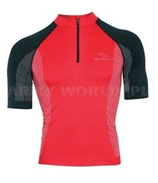 Cycling Seamless Zip-Neck Top - Unisex FIT BRUBECK Red/Black New SALE